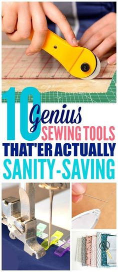 These 10 sewing tools are THE BEST! I'm so happy I found these GREAT sewing tools for beginners! Now I have some great ways to sew faster and easier for my sewing projects! I'm definitely pinning these sewing hacks and tips! #sewing #sewingprojects #sewingtips #sewingforbeginners