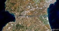 9/11/2014 Corinth Canal Isthmus of Corinth 37°56′04″N22°59′02″E  The Corinth Canal in Greece connects the Gulf of Corinth with the Saronic Gulf in the Aegean Sea. After 12 years of construction, the canal was completed in 1893. It is 4 miles (6.4 kilometers) in length but only 70 feet (21.4 meters) at its base, making it impassable for most modern ships.