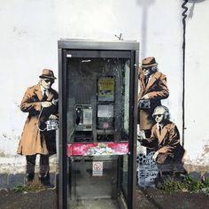 By Banksy in Cheltenham, England.