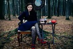 This photography is kind of wierd, it goes with the Alice in Wonderland theme.