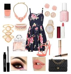 """""""She Looks Rosie"""" by naylanaye on Polyvore featuring Kate Spade, Ally Fashion, River Island, Lipsy, Essie, Lord & Berry, Monsoon, Saachi, Guerlain and Witchery"""