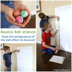 Bouncy Ball Science:  Does the temperature of the ball affect its bounce?