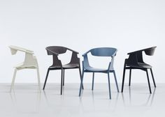 Norse is a minimalist design created by London-based designer Simon Pengelly for Modus. These curved wooden chairs have cut-out backs using steam-bent wood. The product was revealed at Edit by Designjunction earlier this month in Milan. The seat is available in a number of colors. (1)