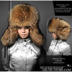 Siberian full fur russian ushanka hat