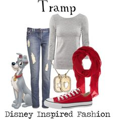"""Tramp - from Disney's Lady and the Tramp"" by elliekayba on Polyvore"