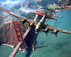 B-17 over the Golden Gate