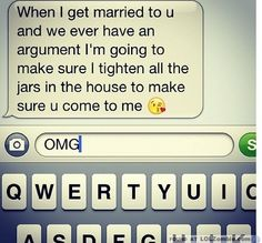Aww this is funny and cute. I think i would go to my husband for help to open up a jar haha When I Get Married, I Got Married, Married Life, Cute Texts, Funny Texts, Cute Relationships, Relationship Goals, Perfect Relationship, Haha