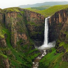 Stamp #609 - Lesotho : Check the Guinness World Record off your #Bucketlist and get an adrenaline rush!  Head to Lesotho basically a landlocked kingdom encircled by South Africa to take on the Maletsunyane Falls. These falls have the Guinness world record for the longest commercially operated single drop abseil in the world. A massive 204 meters down the #maletsunyanefalls waterfall. Having the water soak you on the way down and making it hard to grip was an absolute adrenaline rush. Also be…