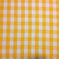 Gele ruitjes op wit   Ruitjes/hartjes   Creadroom.be - Dé online stoffenwinkel vol toffe stoffen met de leukste prints