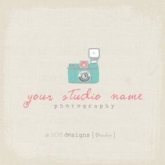 Premade Logo and Watermark - Photography - Vintage Camera Logo Branding, Branding Design, Logo Design, Logos, Vintage Photography, Photography Tips, Watermark Photography, Watermark Ideas, Backdrops