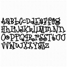"1"" Blackboard Font Boys or Girls Letters Alphabet Sewing Machine Embroidery Design. $2.99, via Etsy."