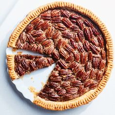 Old-Fashioned Pecan Pie (Epicurious: uses orange zest ~ Yummy) Old Fashioned Pecan Pie Recipe, Pie Recipes, Dessert Recipes, Recipies, Pecan Recipes, Delicious Recipes, Cooking Recipes, Most Popular Desserts, Popular Recipes