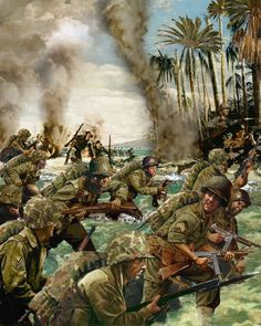 Assault on Peleliu Beach