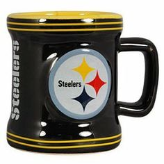 Pittsburgh Steelers Mini-Mug 2oz Shot Glass NFL Boelter by V00346 Boelter. $4.46. Make a toast to the Steelers this football season with this Pittsburgh Steelers Sculpted Mini Mug! This 2oz. ceramic mini mug features Steelers colors and logos throughout.