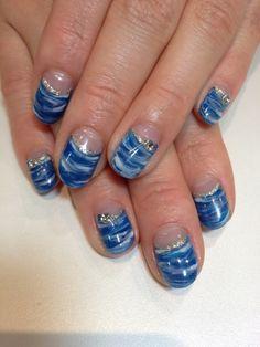 marble nail design
