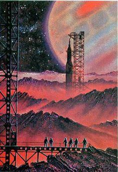 Art,fashion,design,technology etc from the atomic space age Zero Wallpaper, Arte Sci Fi, 70s Sci Fi Art, Vintage Space, Futuristic Art, Diesel Punk, Science Fiction Art, Arte Pop, Space Travel