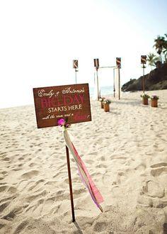 Such a cute wedding entrance sign!