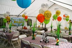 Photo 5 of 23: Jungle, Safari, Animals / Birthday Noahs 1st Birthday! | Catch My Party