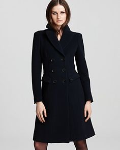 Burberry London Coat - Stancombe Ottoman Wool Double Breasted | Bloomingdale's
