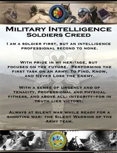 Image detail for -The Military Intelligence Creed Military Salute, Military Service, Military Army, Military Life, Us Army, Army Husband, Army Mom, Army Life, Army Intelligence