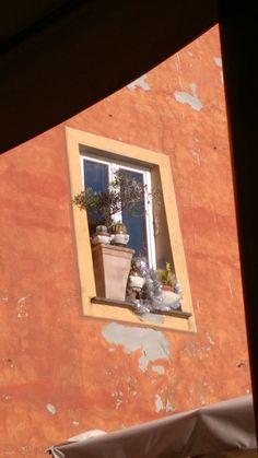 Balcone a Camogli, Liguria, Italia.