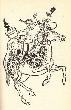 The Pippi Illustrations I remember from when I read them.   Louis S. Glazman - Pippi Longstocking