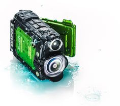 Olympus Tough TG-Tracker Action Camera - Green available at Optical Ocean Sales for only $349! The pocket-sized TG-Tracker records Ultra HD 4K video using advanced Olympus optics. Take it places you wouldn't dare take most cameras. Drop it, freeze it, submerge it, and it will just keep shooting – even 100 ft (30 m) underwater, no protective housing required.