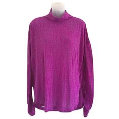Free People Sz M Purple Space Dye Turtleneck Tunic Free People Sz M Purple Space Dye Turtleneck Tunic High LowSize MLong Sleeve SheerBust 32-40-Loose baggy fitting NWOT Very cute top! Free People Tops