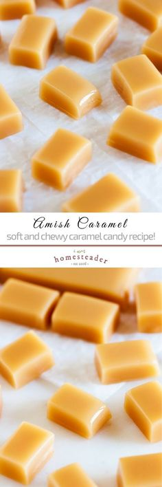 Try Amish caramel candy! Such a sweet treat, the best for holidays, setting out for guests or gift-giving! Check us out at for more healthy homemade cooking and homesteading recipes you can do at home. (easy snacks at home) Caramel Recipes, Fudge Recipes, Candy Recipes, Holiday Recipes, Baking Recipes, Dessert Recipes, Sweet Desserts, Easy Desserts, Delicious Desserts
