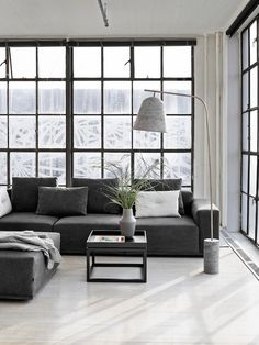 'Minimal Interior Design Inspiration' is a weekly showcase of some of the most perfectly minimal interior design examples that we've found around the web - all Minimalism Living, Modern Minimalist Living Room, Living Room Modern, Minimalist Design, Modern Design, Danish Design, Small Living, Design Design, Design Ideas