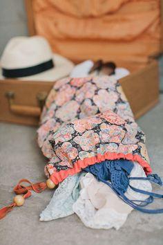 DIY travel laundry bag.