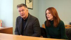 "New film about dementia - Married couple John (Alec Baldwin) and Alice (Julianne Moore) in the neurologist's office in ""Still Alice."""