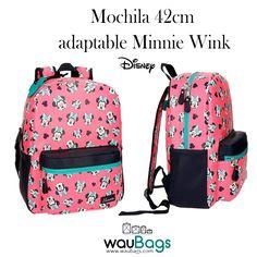 ac5544ed3 Mochila 42cm adaptable Minnie Wink Adaptable a carro de Disney tiene un  compartimento principal con cierre