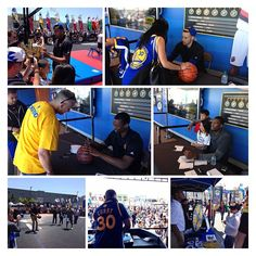Great day at #NBANation shooting hoops, signing autographs & hanging out with #DubNation