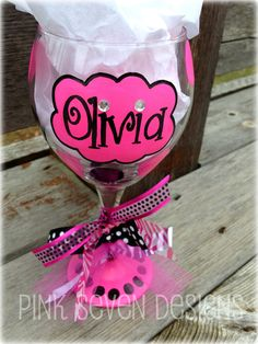 I'm not sure little girls should be drinking out of wine glasses...but how cute are these?!!!