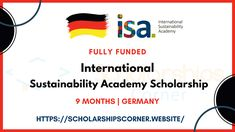 FULLY FUNDED - International Sustainability Academy Scholarship 2021 in Germany  Duration: 9 Months  Scholarship: 1) € 1,300 per month expenses 2) Health insurance 3) Retrun Airticket 4) Accommodation 5) airport transfer in Hamburg with public transport 6) season ticket for the use of public transport in Hamburg 7) costs of group excursions  Deadline: June 30, 2020  #ISA #ISAScholarship #ScholarshipsCorner #Scholarship Season Ticket, June 30, Health Insurance, Public Transport, Sustainability, Germany, How To Apply, Group, Education