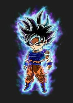 Now how about that, it's Chibi UI Goku Dragon Ball Gt, Chibi Goku, Chibi Marvel, Goku Super, Chibi Characters, Fanarts Anime, Son Goku, Goku Ultra Instinct, Dbz Vegeta