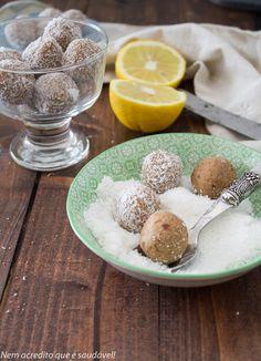 Bolinhas de millet e limão (vegan, sem glúten, sem açúcar). Millet truffles