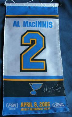 Al MacINNIS St Louis Blues Retirement Banner