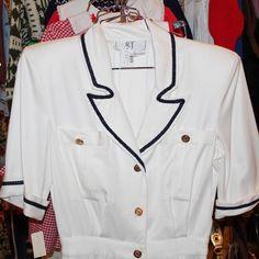 Classic 1980s Sailor Dress