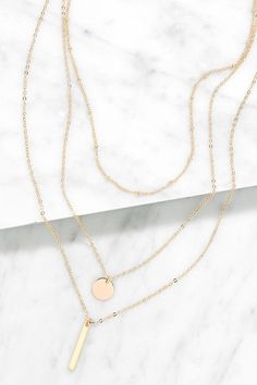 Perfect Trio Gold Layered Necklace