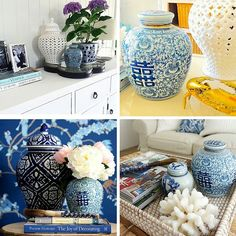 Hamptons House, The Hamptons, Home Furniture, Blue And White, Home Decor, Ornaments, Decoration Home, Home Goods Furniture, Room Decor