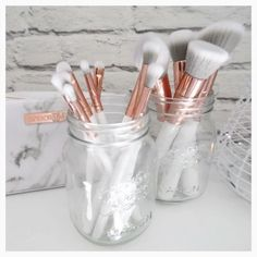 If you haven't seen this brush collection, where have you been!? It has to be one of the most 'instagramable' brush sets I've seen. They ar... Nail Design, Nail Art, Nail Salon, Irvine, Newport Beach #haircaretoolsholder,