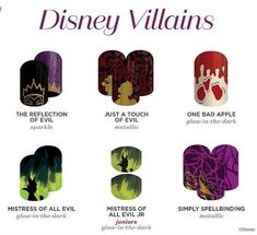Just In Time For Halloween Is The Disney Collection by Jamberry Volume IV: The Villains!