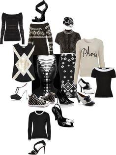 """black n white"" by lovetodrinktea ❤ liked on Polyvore"