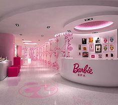"An actual ""Barbie"" salOn. wOrds cannOt describe the lOve. Barbie Room, Barbie Life, Barbie Dream House, Barbie World, Pink Barbie, Dream Rooms, Dream Bedroom, Schönheitssalon Design, Kids Salon"