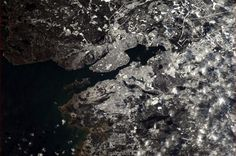 Lovely and snowy Halifax, Nova Scotia, as seen from space on January The photo was taken by Chris Hadfield, the first Canadian commander of the International Space Station. Cuando Sea Grande, Chris Hadfield, Italian Romance, Space Photos, Earth From Space, Space Station, Nova Scotia, Aerial View, Scenery