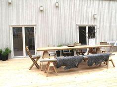 DIY Scandinavian Outdoor Dining Space