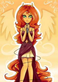 Sunset Shimmer from my little pony friendship is magic Equestria Girls and…