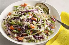 Cole slaw with asparagus.  Skip the peas, and use low carb cole slaw dressing.